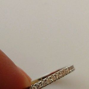 Silver Plated Ring w/Cubic Zirconia